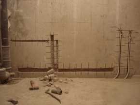 Штроба в бетоне под канализацию